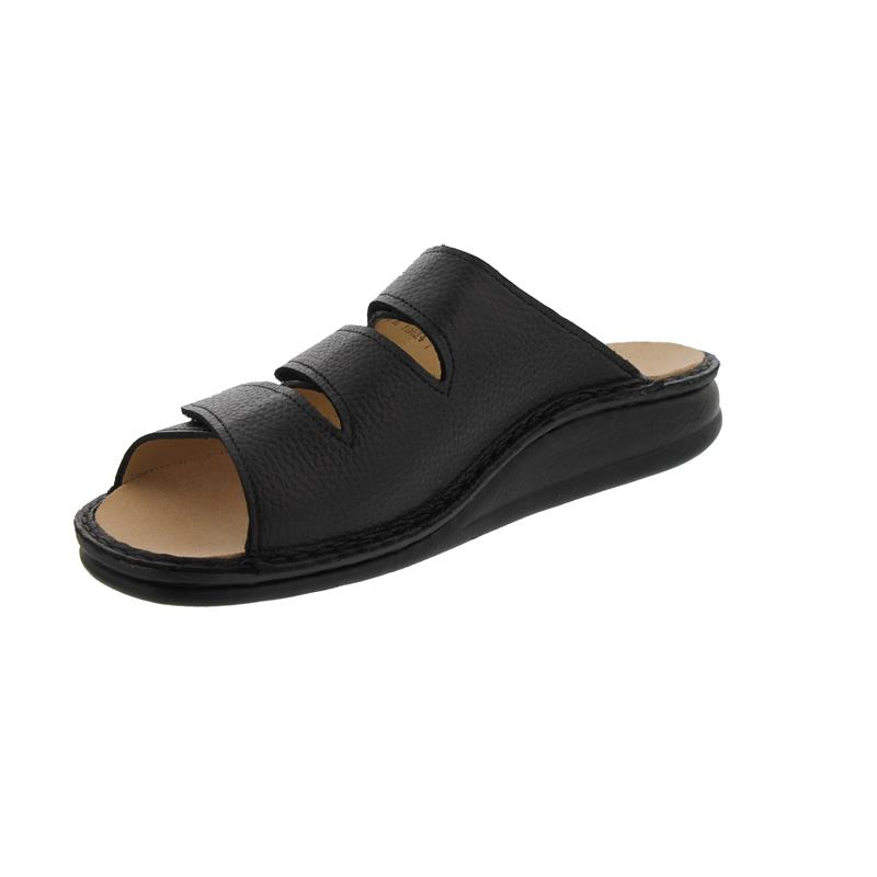 Finn Comfort Korfu - Pantolette, Classic, Bison (Glattleder), schwarz, 1508-055099