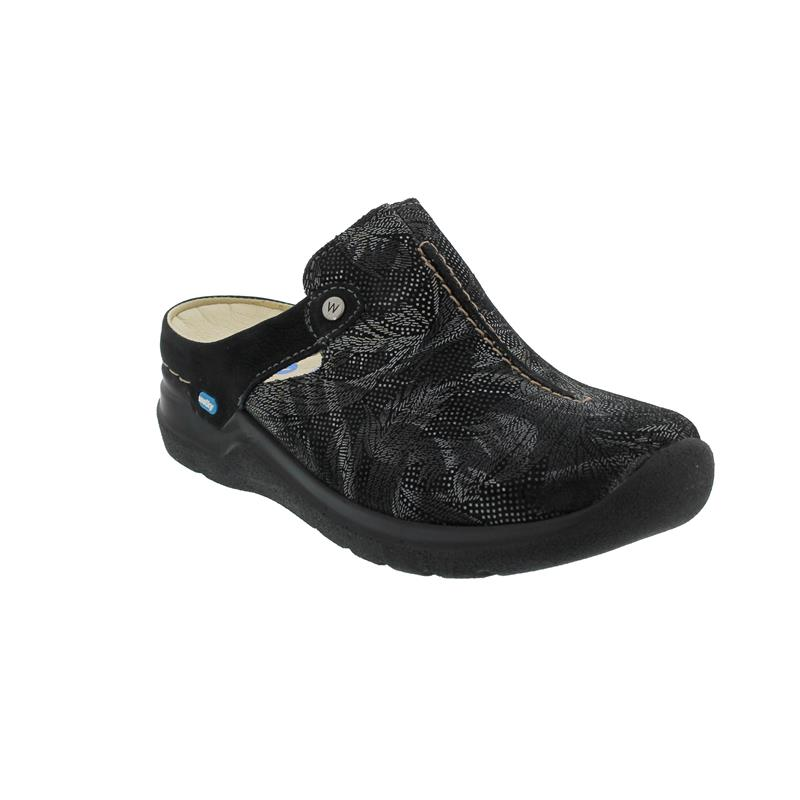 Wolky Holland, Antique Palm suede, black, Clog 0660017 000