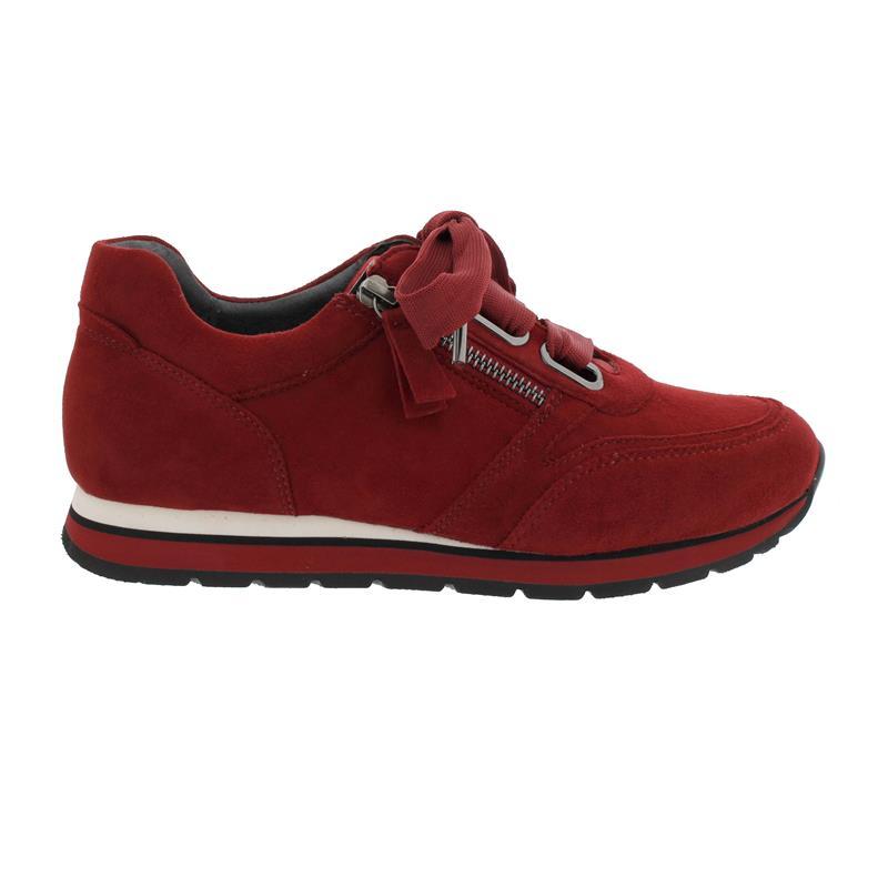 newest da3aa 97c27 Gabor-Comfort York Sneaker, Samtchevreau, dark-opera, Weite G,  Wechselfußbett 36.365.48