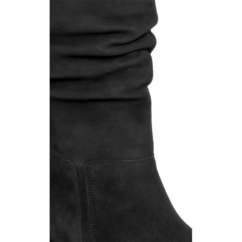 Gabor City Stiefel, Samtchevreau (Micro), schwarz 35.801.17