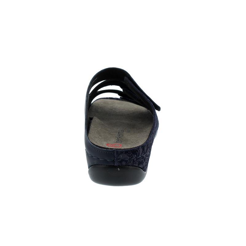 Berkemann Andrea, dunkelblau, Milled / Leder / Stretch, Wechselfußbett, Weite E-H 1013-389