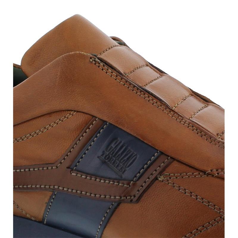 Galizio Torresi Slipper, Vegas / Indio (Glattleder), cuoio-blu, Wechselfußbett 313998
