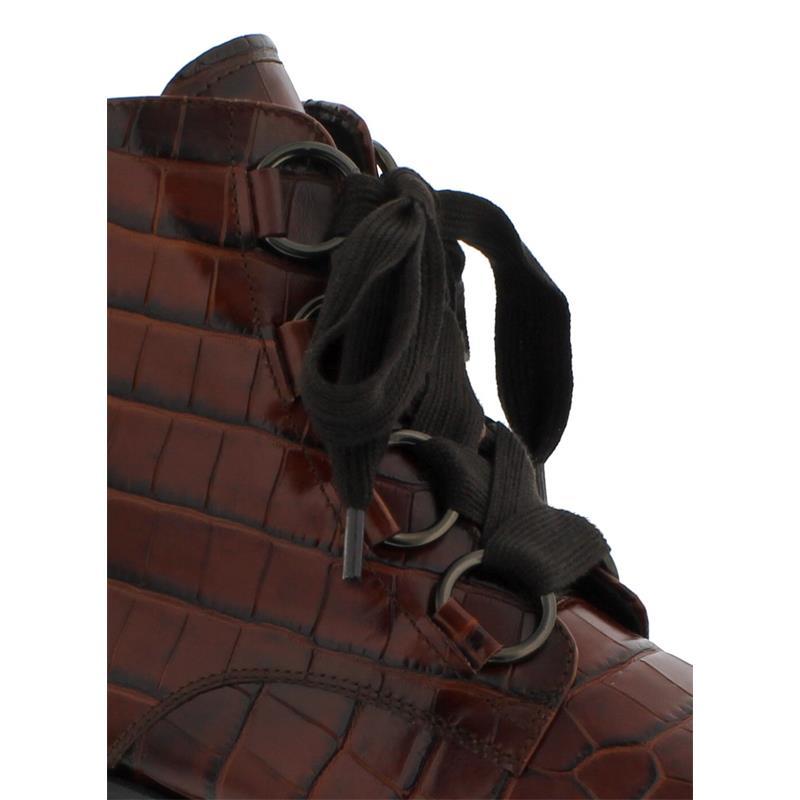 Gabor Comfort Genua, Stiefelette, Kroko, cognacEF (Micro), Wechselfußbett, Weite G 32.795.25