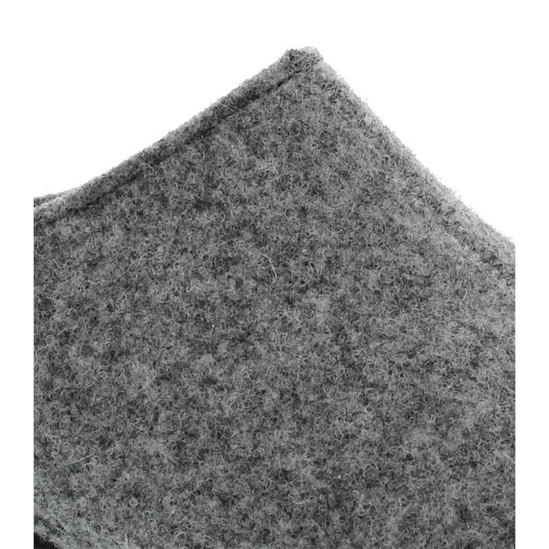 Berkemann Florina, hellgrau, Filz, Hausschuhe, Weite H, Wechselfußbett 1025-652