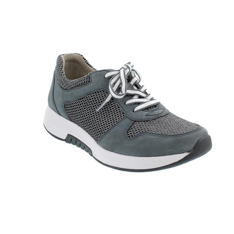 Rollingsoft Sneaker, Mesh Oval Nubuk, grey river, Wechselfußbett 46.946.49