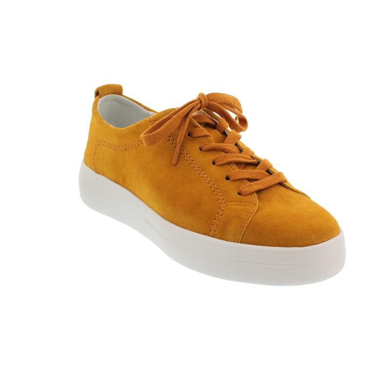 Gabor Florenz Sneaker, Dreamvelour, orange, Weite G, Wechselfußbett 46.425.31