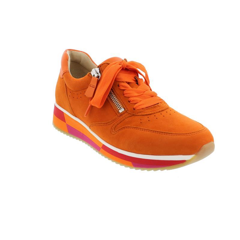 Gabor Sneaker, Samtchev. Sportylamm, orange, Wechselfußbett 43.390.13
