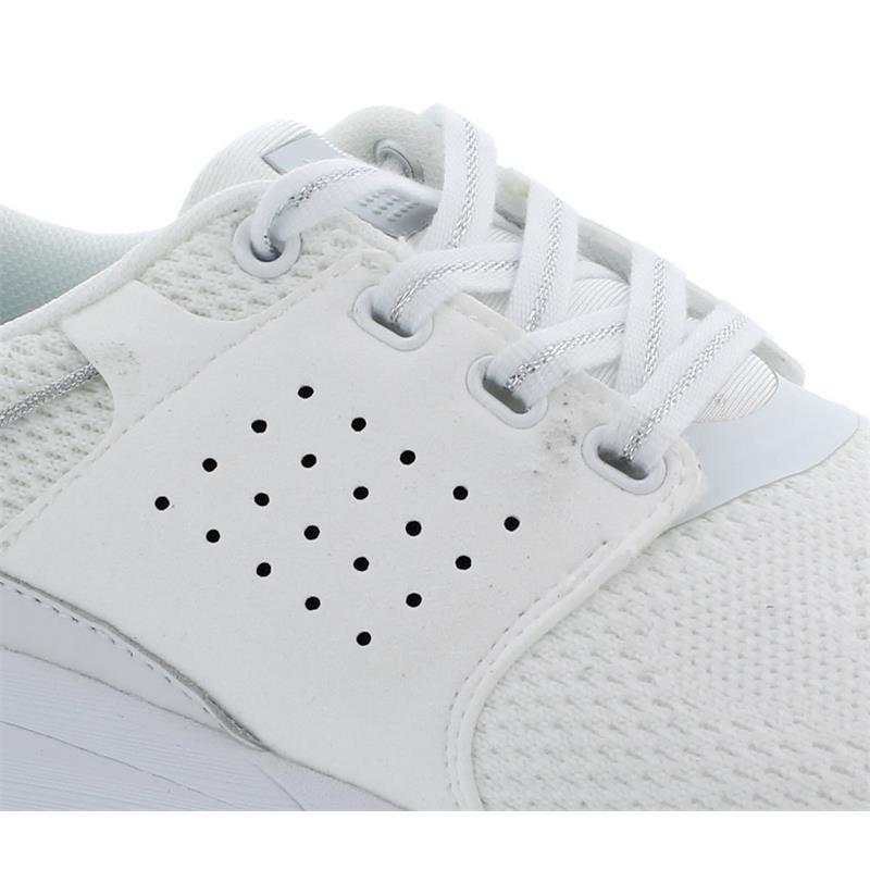 TBS Cladell, Flyknit (Strick), Blanc + Argent T7E67