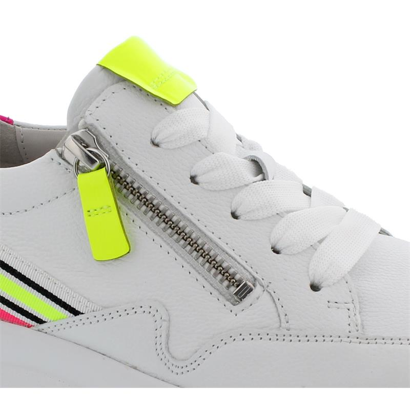 Gabor Sneaker, LasVegas Lack, weissneon kombi, Wechselfußbett 43.492.23