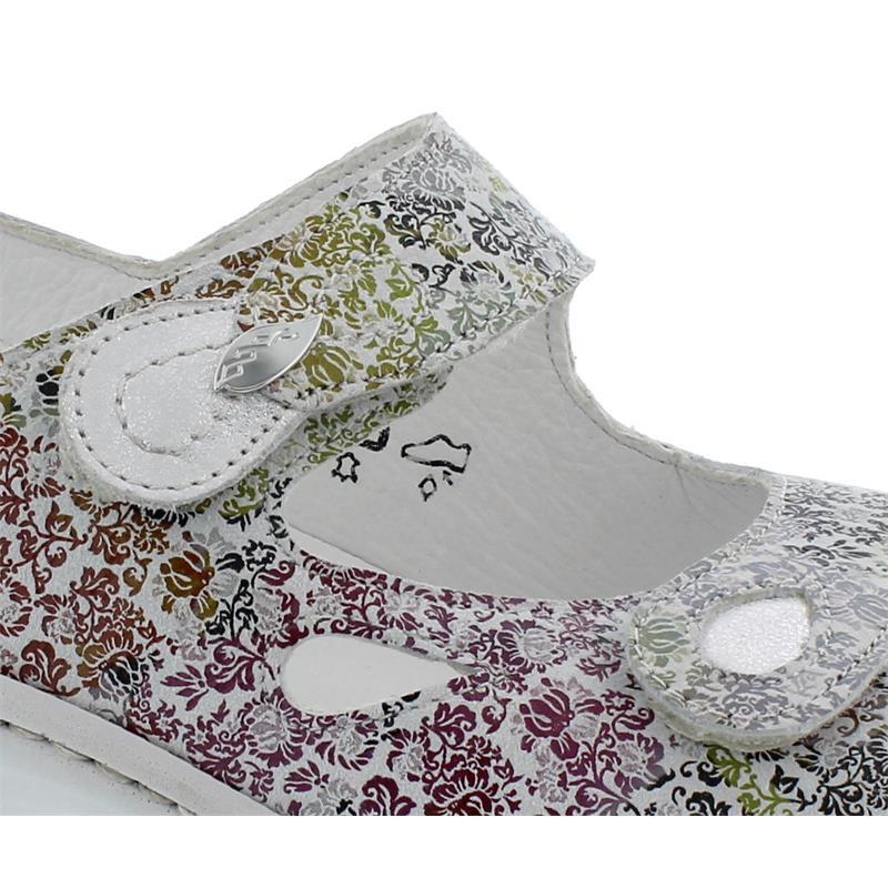 Waldläufer Heria, Sandale, Florat Bufa, offwhite silber, Weite H, 408018-294-893