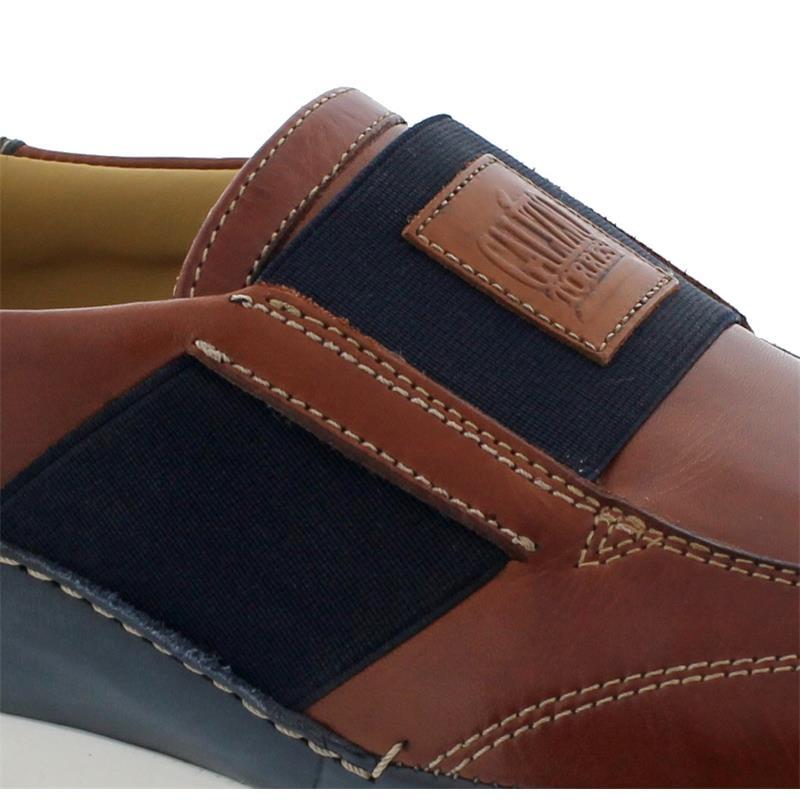 Galizio Torresi Slipper, Foulard (Glattleder), rame-blu, Wechselfußbett 418590