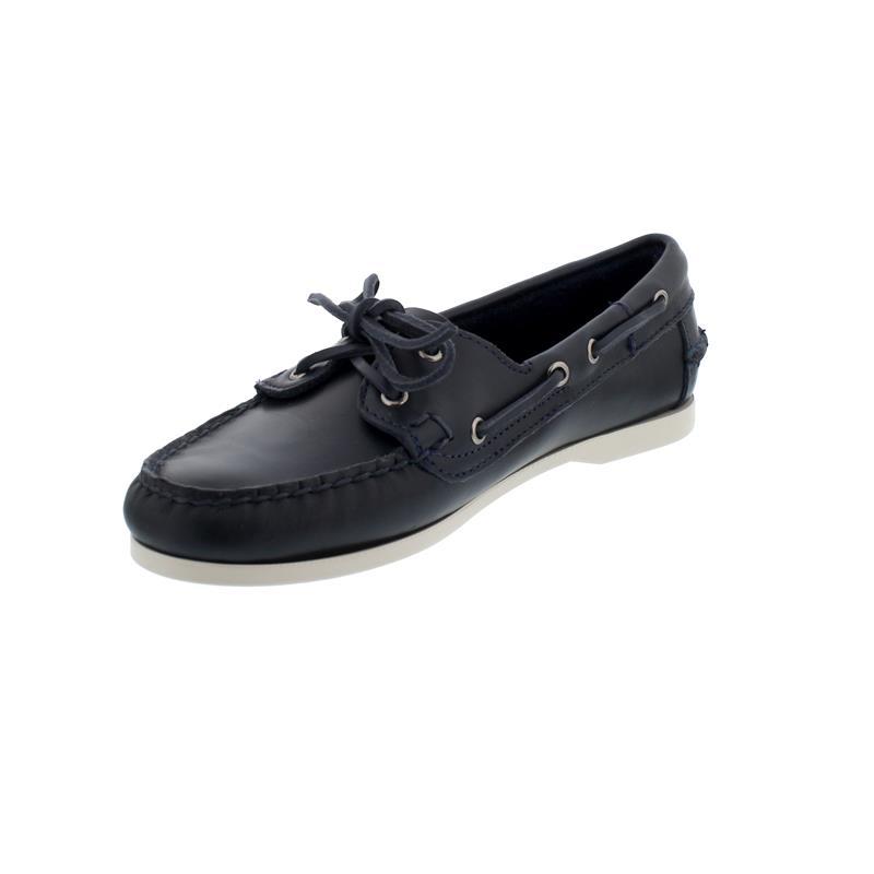 Sebago Docksides, Waxy Leather (Glattleder), blue-navy, Women 71111HW-908