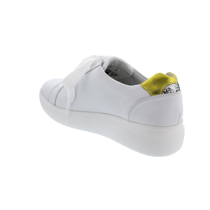 Waldläufer H-Vivien Sneaker, Glattleder, weiss sonne silber,  Weite H 763004-400-209