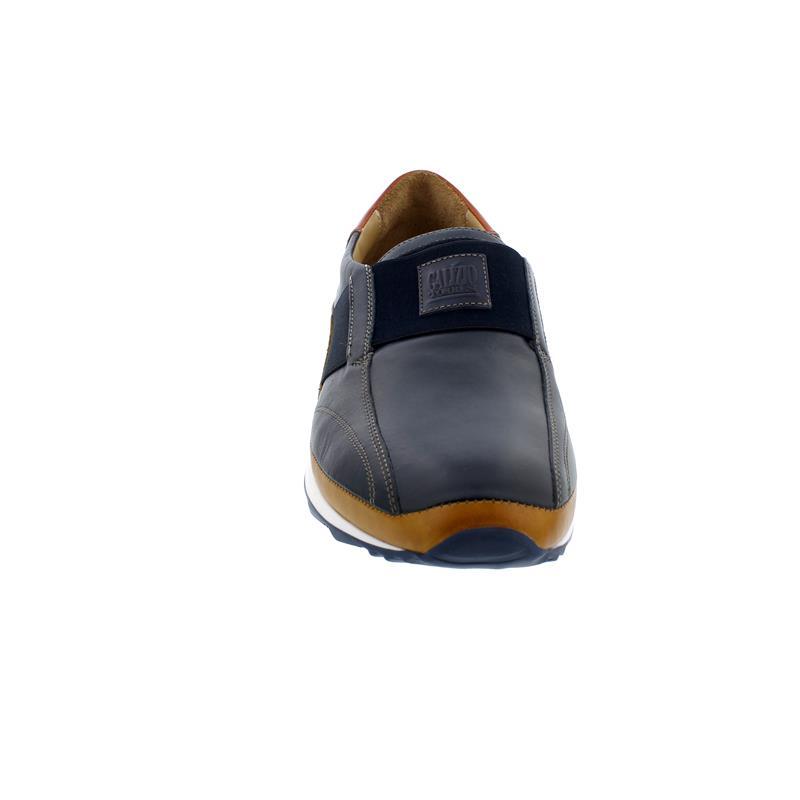 Galizio Torresi Slipper, Foulard (Glattleder), blu-mais-tufo, Wechselfußbett 418590