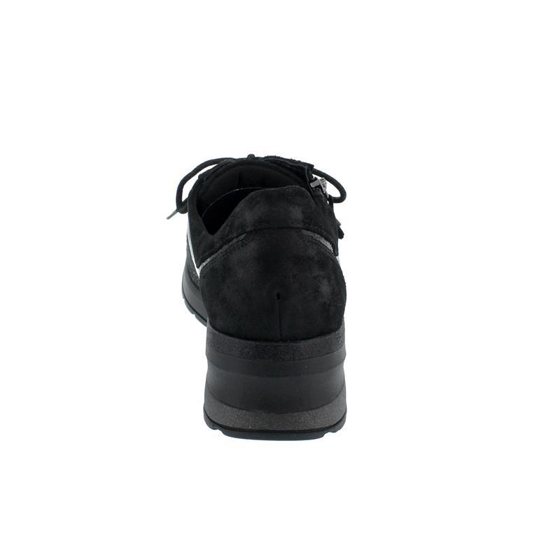 Waldläufer H-Clara-Soft, Velourled. / Stretch, Schnürung  und Reißverschluss, Weite H 939H01-600-001