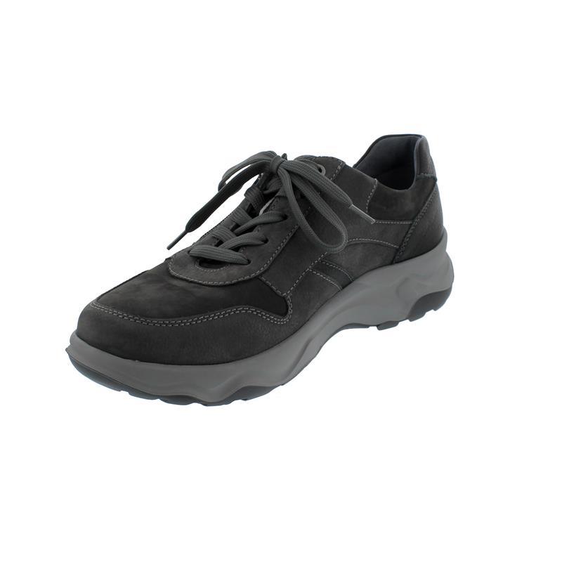 Waldläufer H-Max, Nubuk- / Glattleder, carbon / schwarz, Reißverschluss, Weite H 718003-402-696