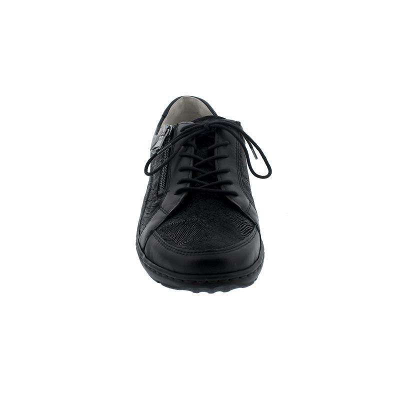 Waldläufer Henni, Pro-Aktiv Fussbett, Glattled. komb., schwarz, Weite H 496042-311-001