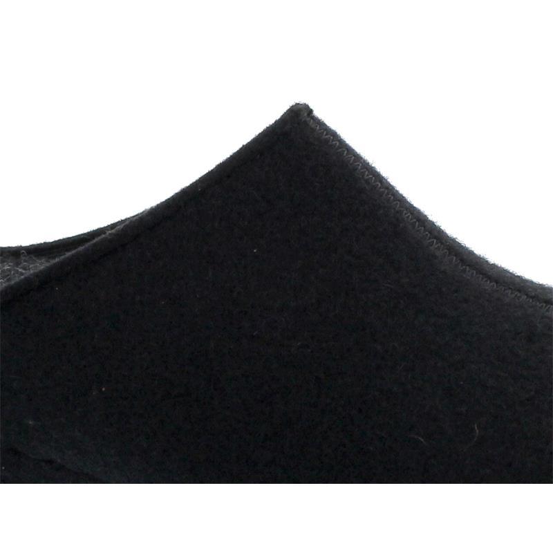 Berkemann Florina, Hausschuh, Filz, schwarz, Weite H, Wechselfußbett 1025-958