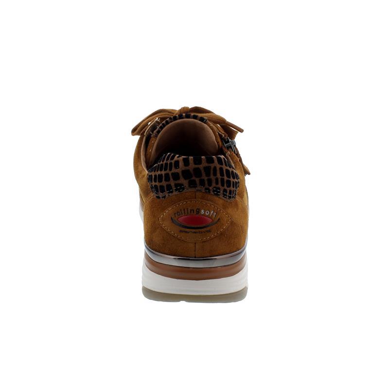Rollingsoft Sneaker, Dreamvelour/ Daumling, autumn/rost-schw./ Schnür./Reißvers., Wechselfußb. 56.973.32