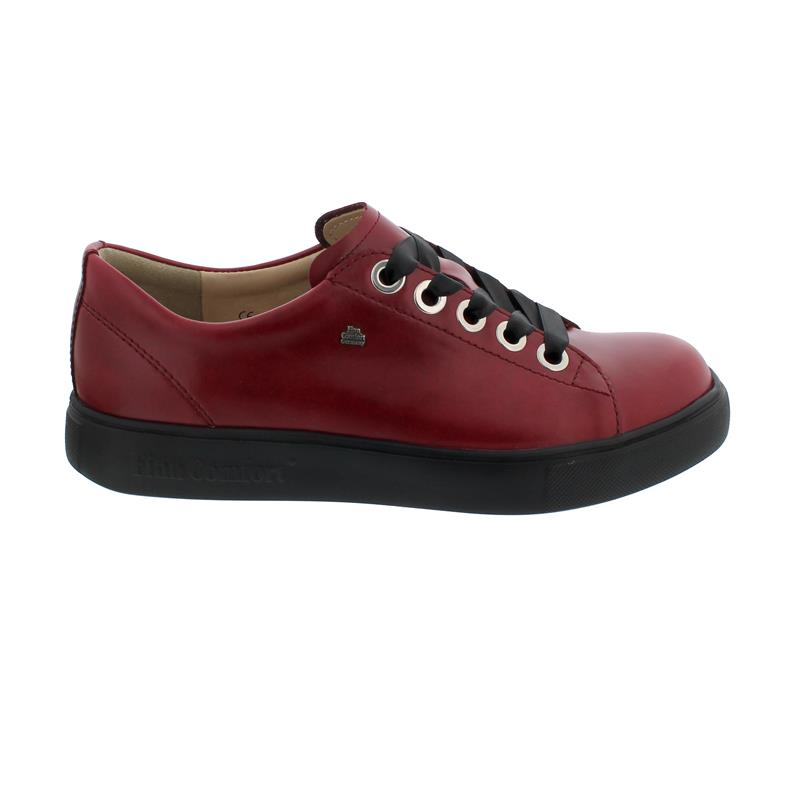 Finn Comfort Elpaso Sneaker, Sierra (Glattleder), Red, Schnürschuh 2479-658147