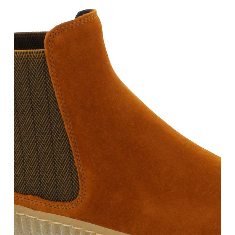 Gabor Chelsea Boot, Dreamvelour (Micro), cayenne/curry (natur),Wechselfußbett, Best-Fitting 53.731.13
