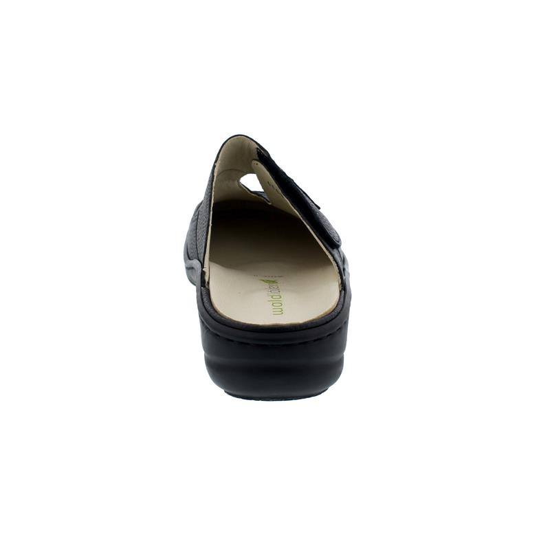 Waldläufer Heria Clog, Pigalle (Glattleder), schwarz, Klettverschluss, Weite H 408701-172-001