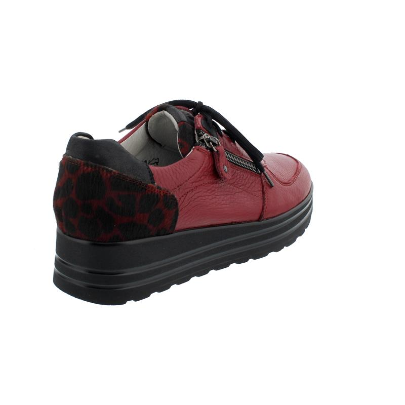 Waldläufer H-Lana, Sneaker, Hirschleder (Glattleder), Muuh Br rubin bordo, Weite H 758001-500-019
