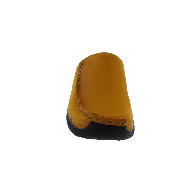 Wolky Seamy-Slide Clog, Oiled nubuck, dark-ochre, 0625016-925