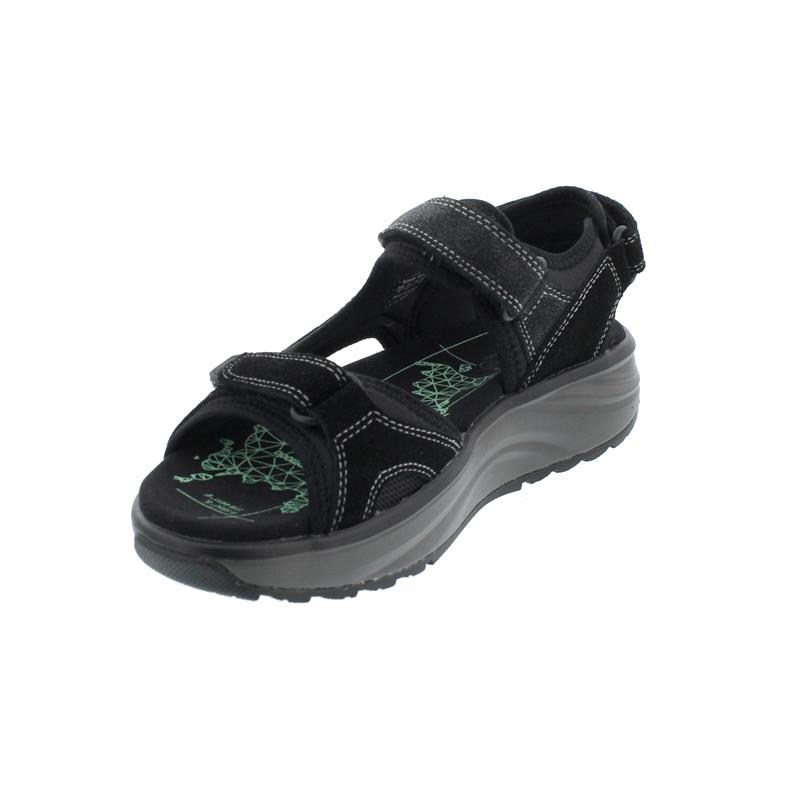 Joya Komodo Black Sandale, Velour Leather/ Textile,  Air-Sohle, Kategorie Emotion 867san