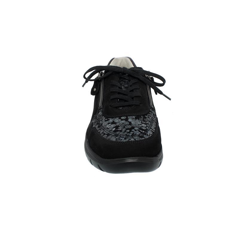 Waldläufer H-Leonie Sneaker, Denver Florette Taipei, schwarz carbon, Weite H 796002-303-991