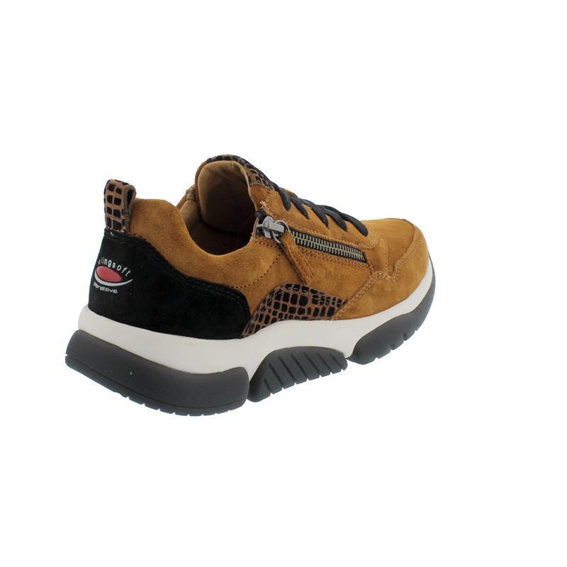 Rollingsoft Sneaker, Dreamvel./Daumling, camel/rost-schwarz, Schnür./Reißvers., Wechselfußb. 56.938.32
