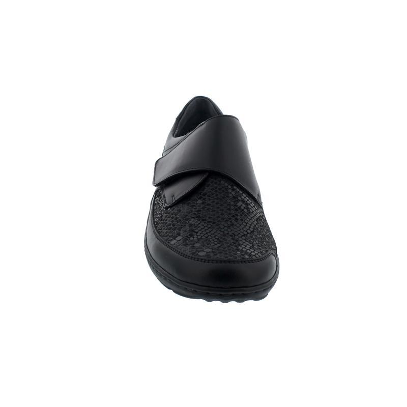Waldläufer Henni-Soft Halbschuh, Ortho-Tritt, Memphis  Krokus str., Stretch, schwarz, Weite H 496H31-352-001