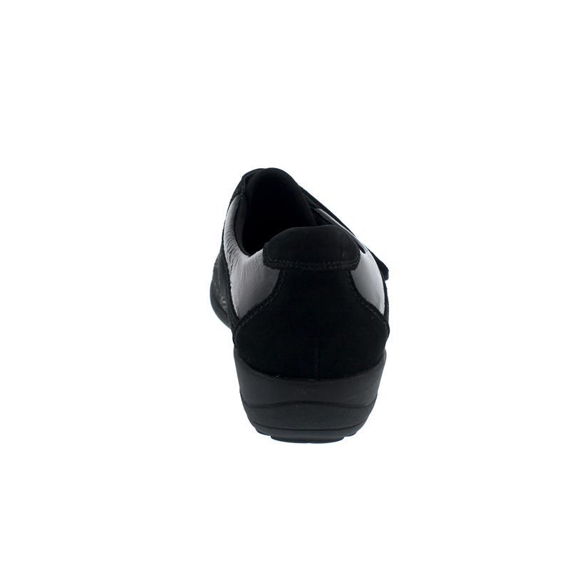 Waldläufer Katja-Soft Halbschuh, Ortho-Tritt, schwarz, Weite K, Klettverschluss K01304-350-001