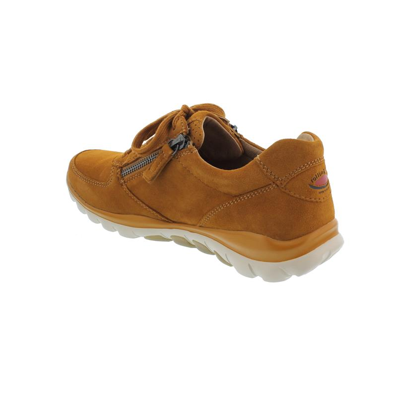 Rollingsoft Sneaker, Samtchevreau, curry, Schnürung und  Reißverschluss, Wechselfußbett 56.968.33