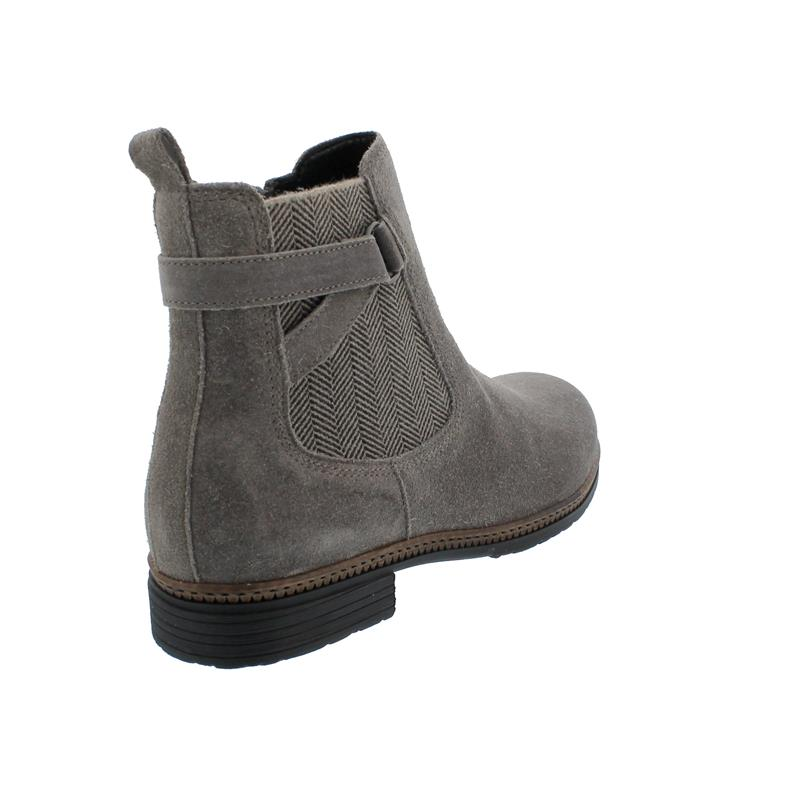 Gabor Bootie Reißver., Dreamvelour. (Flausch), wallaby,  BEST FITTING, Wechselfußbett, 54.670.12