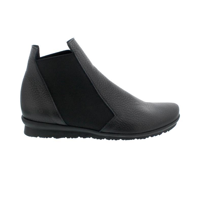 Arche Barssy Chelsea-Boot, Hopi dble cuir (Glattleder), Noir (schwarz) Gummizüge, Bootie