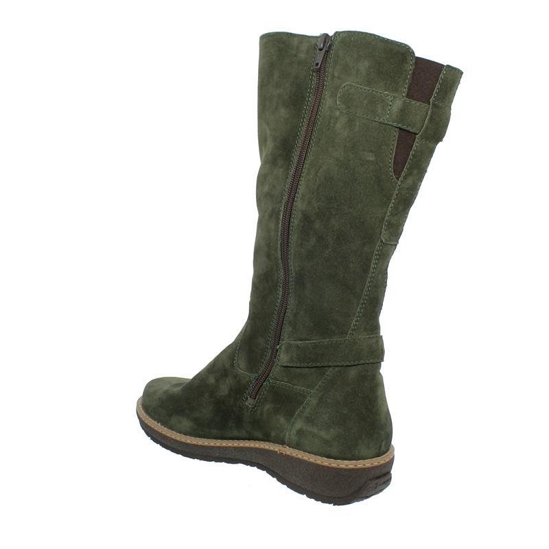 Waldläufer Hoja Stiefel (Langschaft), Futter echt Lammfell,  Order (Velour), Weite H 533904-195-047