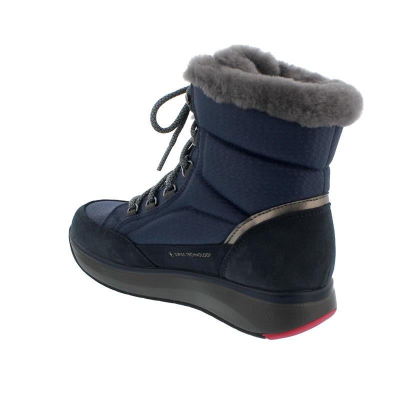 Joya Tiffany STX Dark Blue Stiefel, SympaTex,  Textile/Velour Leather / Fur, Senso-Sohle, 858boo