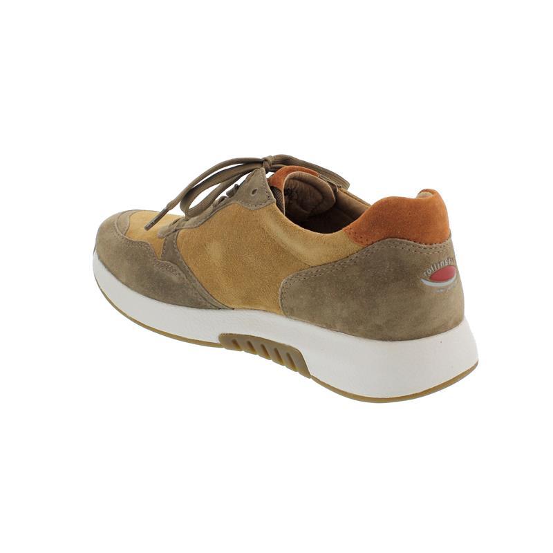 Rollingsoft Sneaker zum Schnüren, Dreamvelour, sella / farro / rost, Wechselfußbett 56.948.45