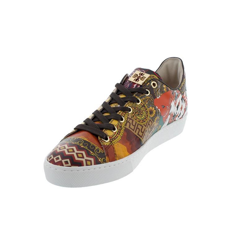 Högl Sneaker, Carnabyprint (Glattleder), multi, 100358-9900