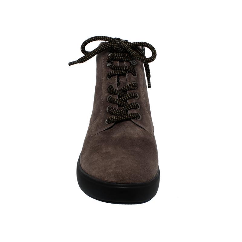 Waldläufer H-Vivien Bootie, Reißverschluss, Order (Velour), mouse, LS-schwarz, Weite H 763801-195-190