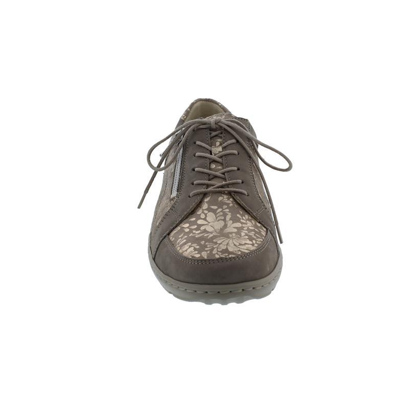 Waldläufer Henni Halbschuh, Pro-Aktiv Fussbett, Nubukleder, beige/lightgold, Weite H 496042-309-921