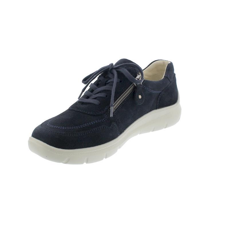 Waldläufer H-Leonie, Sneaker, Velour, deepblue, Weite H, 796002-130-021