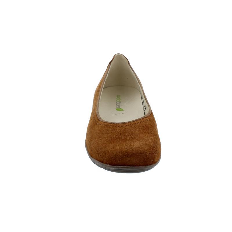 Waldläufer Hesima, Ballerina, Order (Velourleder), cognac, Weite H 329051-195-082