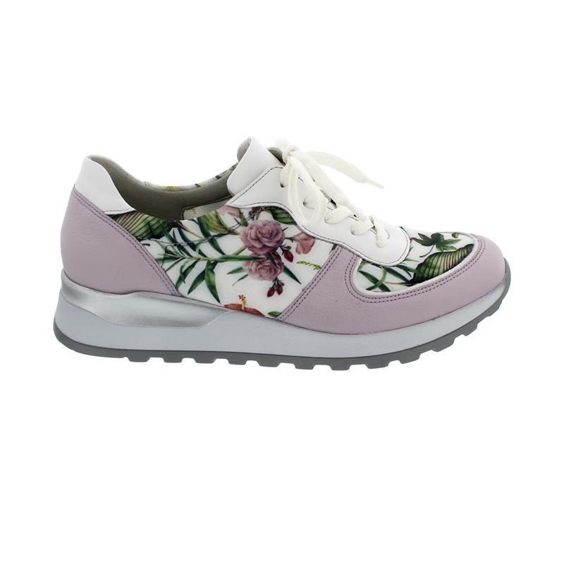 Waldläufer Hiroko Sneaker, Porto Memphis Sensostretch, flieder, Weite H H64001-329-235