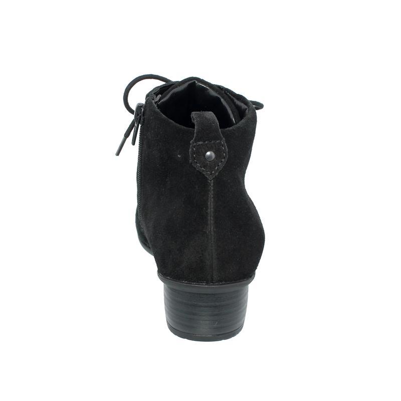 Waldläufer Haifi Stiefelette, Velour, schwarz, Schnürung u. Reißverschluss, Weite H 967809-130-001