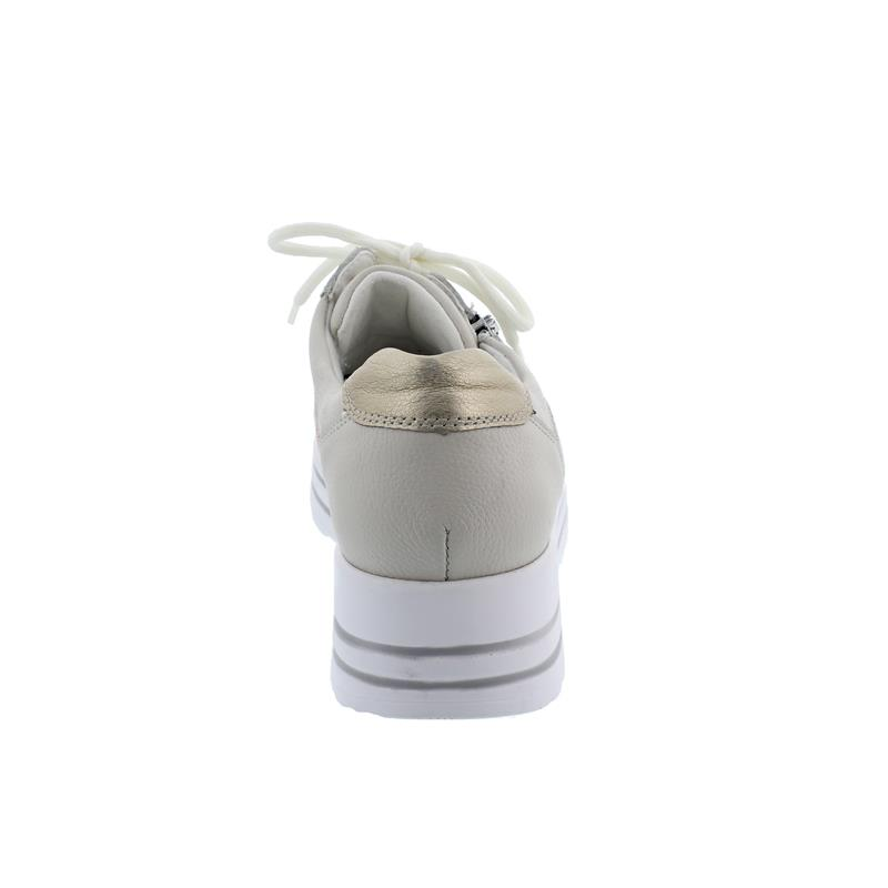 Waldläufer H-Lana Sneaker, Porto Floralstr. Chicago perl/rot/gold, Weite H 758H02-403-111