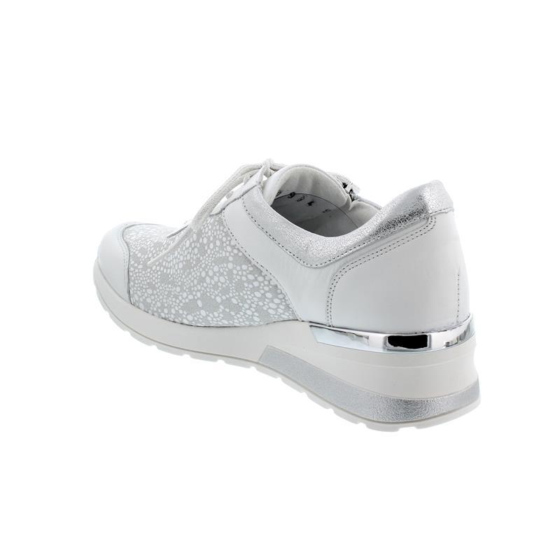 Waldläufer H-Clara-Soft Sneaker, Memphis/Circlestr./Bufa, Schnürung und Reißver., Weite H 939H01-302-799