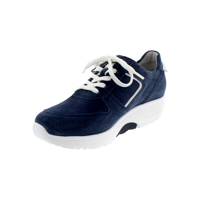 Waldläufer H-Sonja, Dynamic-Sohle, Sneaker, Velour komb., jeans / silber, Weite H 999004-312-693
