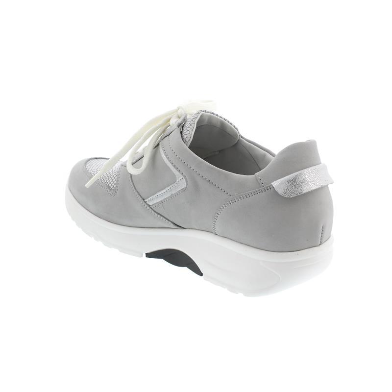Waldläufer H-Sonja, Dynamic-Sohle, Sneaker, Nubuk komb., cement / silber, Weite H 999004-310-424